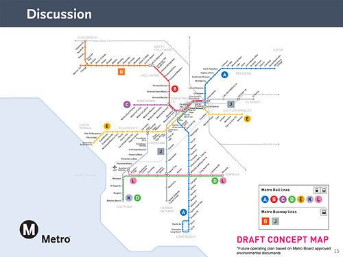 LA Metro Could Switch Rail Line Names From Colors to Letters