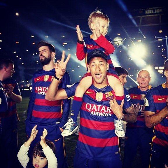"@neymarjr ""It's an honour to share trophies with this team and the fans. I am very happy at this club. I am a Barça fan!"" Sóc molt feliç en aquest Club jo sóc del Barça ""Soy muy feliz en este Club. Soy del Barça"" #campionsfcb #ForçaBarça #fcbarcelona by fcbarcelona"