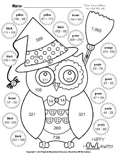 Printables Coloring Math Worksheets 1000 images about math coloring sheets on pinterest owl sheet facts