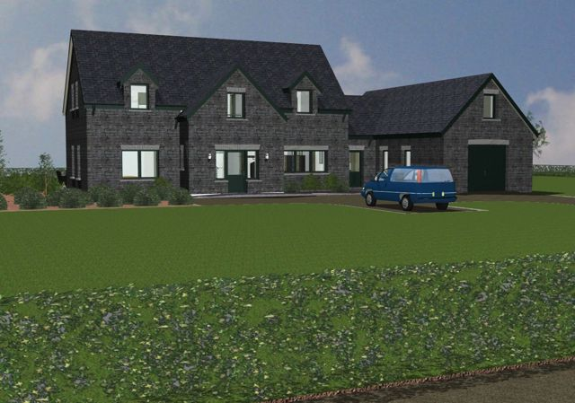 Varation of our standard dormer style cottage in Kerry Ireland.  House design: dod architects