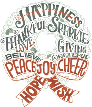 Cute word wreath
