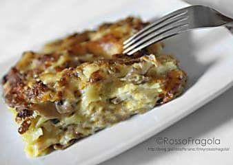 Lasagne al forno ricetta con funghi e salsiccia