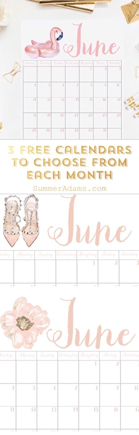 The June 2017 Printable Calendar is here and it's FREE! Print out and hang in your office. Save graphics/wallpaper to your phones OR print out & frame them!