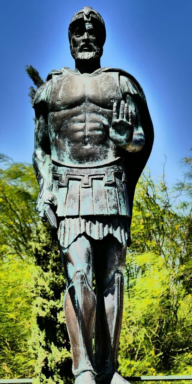 Statue of Miltiades, Marathon, Greece