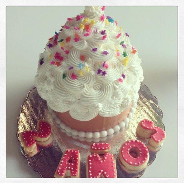 #cupcake gigante de cumpleaños. ♡