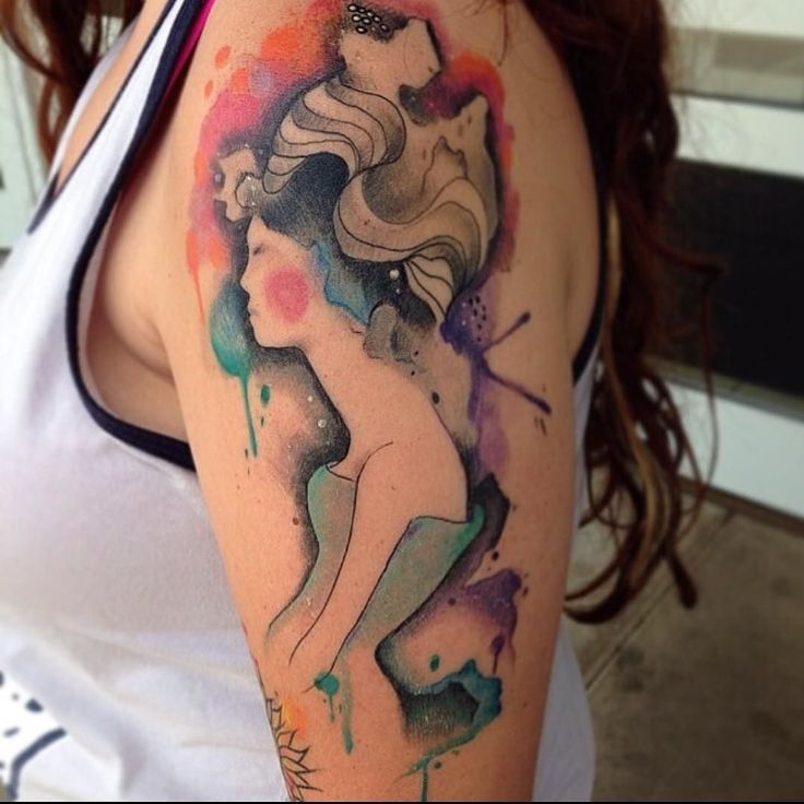 #watercolor #watercolortattoo by matching_tattoos_
