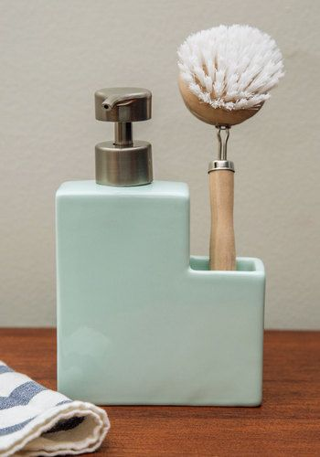 Clean Plate Club Soap Dispenser Set. Who says cleaning is a chore? #gold #prom #modcloth