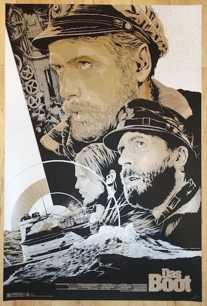 """Das Boot - variant silkscreen movie poster (click image for more detail) Artist: Ken Taylor Venue: N/A Location: N/A Date: 2014 Edition: 175; signed and numbered Size: 24"""" x 36"""" Condition: Mint Notes:"""