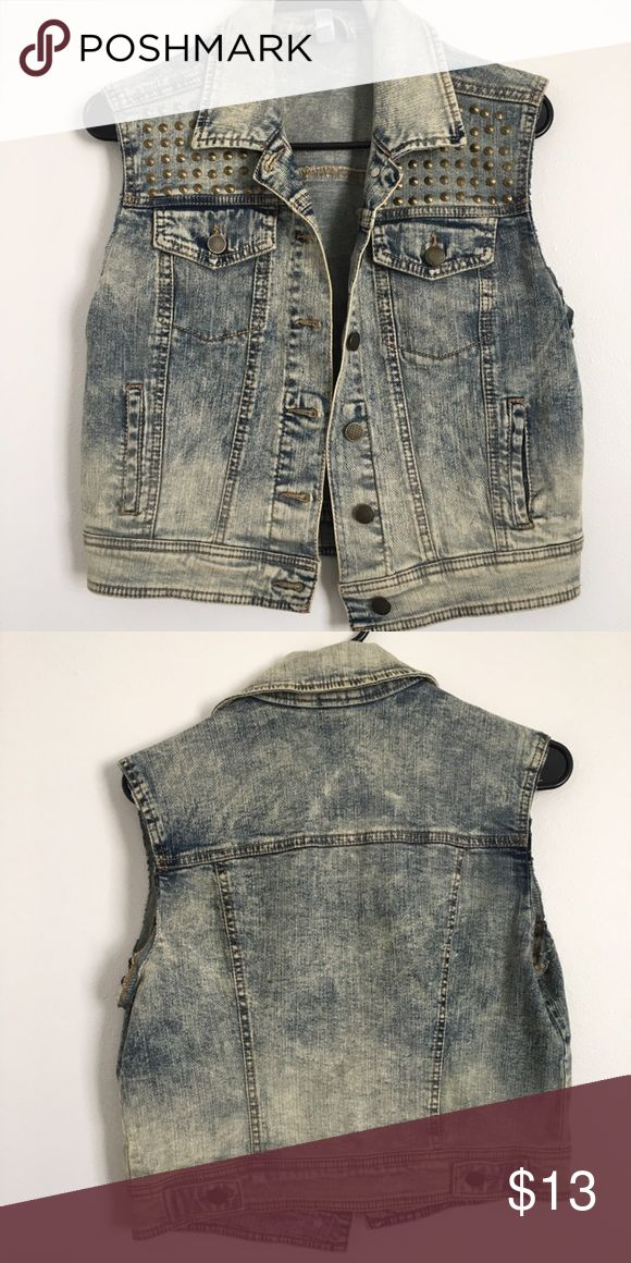 Distressed Levi vest Distressed and studded Levi vest Jackets & Coats Vests