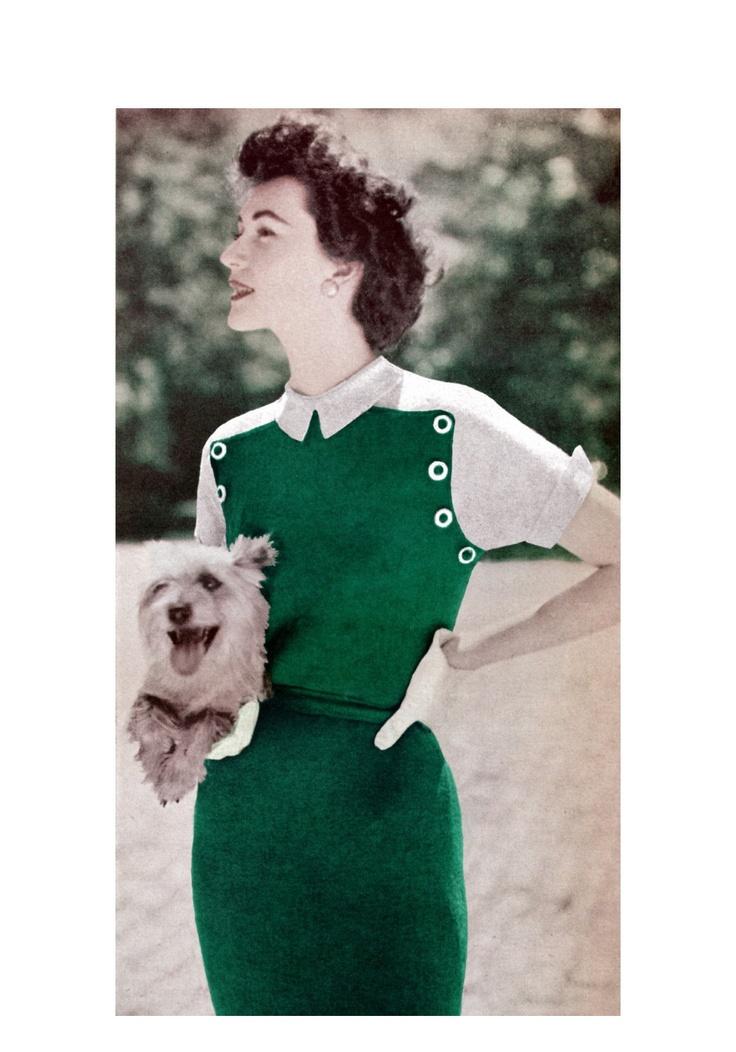 1950 fashion dresses vogue knitting