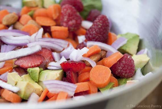 Clean Eating Spinach Summer Salad