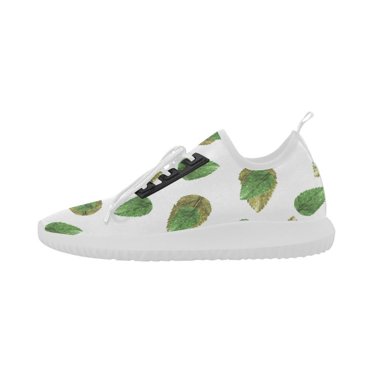 Leaves Motif Nature Pattern Dolphin Ultra Light Running Shoes for Women (Model 035)