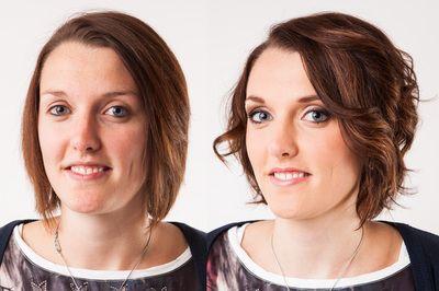 Before and After Make-up - Vorher / Nachher - ARISTOS Fotostudio - Make-up