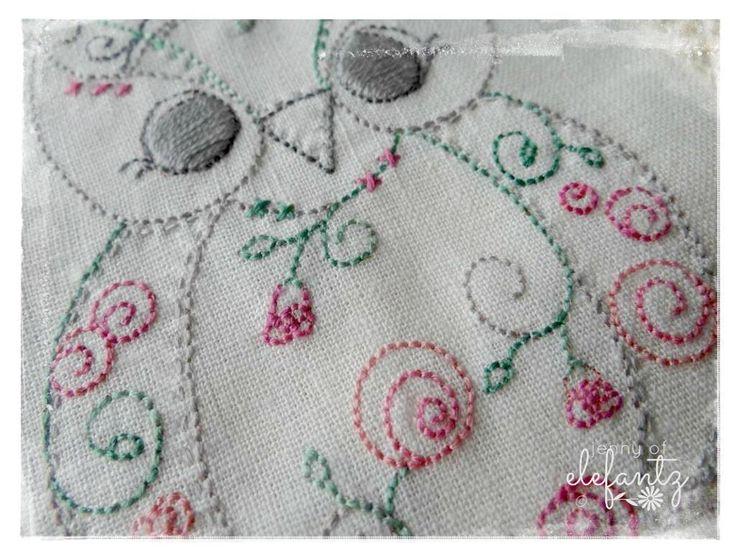 (10) Name: 'Embroidery : Sleep Tight Owl - stitchery