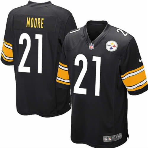 Youth Mewelde Moore Pittsburgh Steelers Black Jersey #21 Elite Nike NFL Jersey Sale