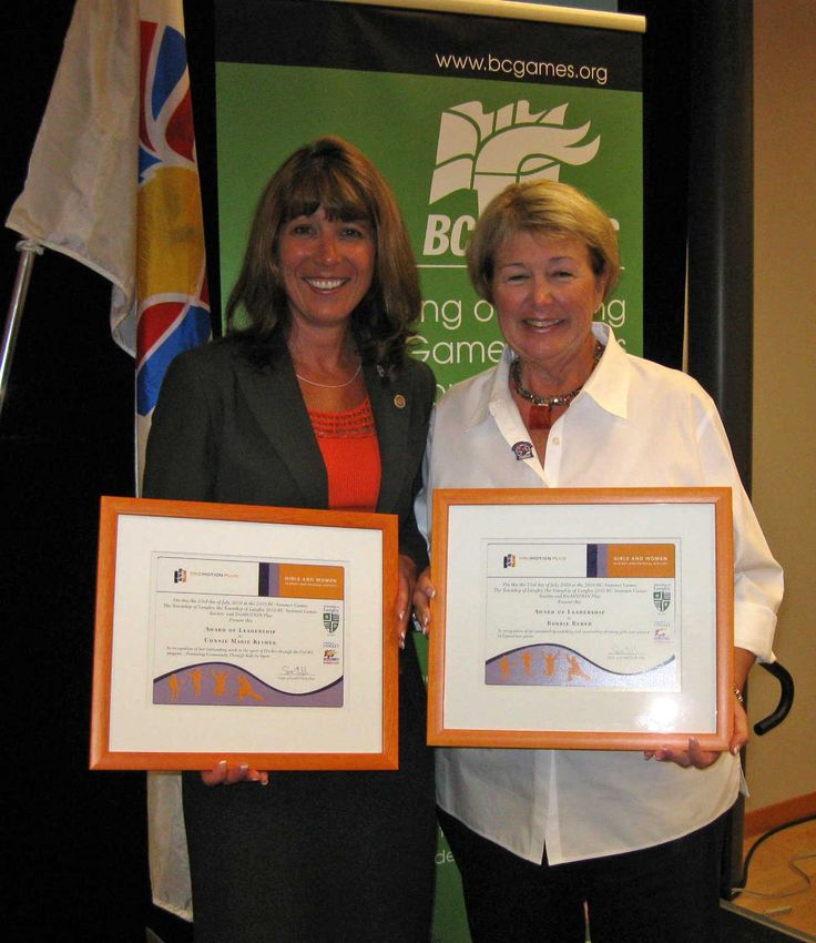 Connie Klimek and Bonnie Reber  at Langley Civic Luncheon
