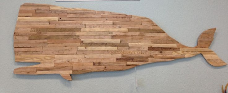 Reclaimed wood whale made by local artist chris mccrae for Local reclaimed wood