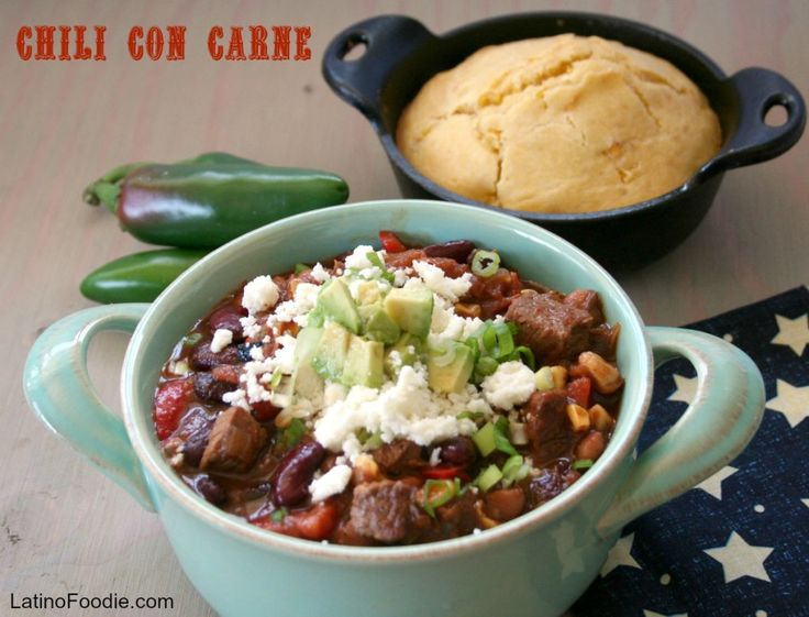 Puts some fire in your mouth with LatinoFoodie's Chili con Carne recipe.