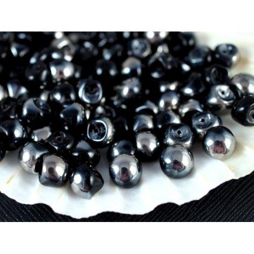 http://www.scarabeads.com/Glass-BEADS/Mushroom-Beads/25pcs-Mushroom-beads-9x8mm-Jet-Half-Chrome-Finish