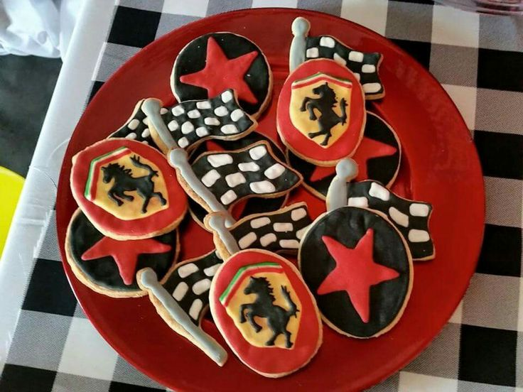 Ferrari Themed Cookies