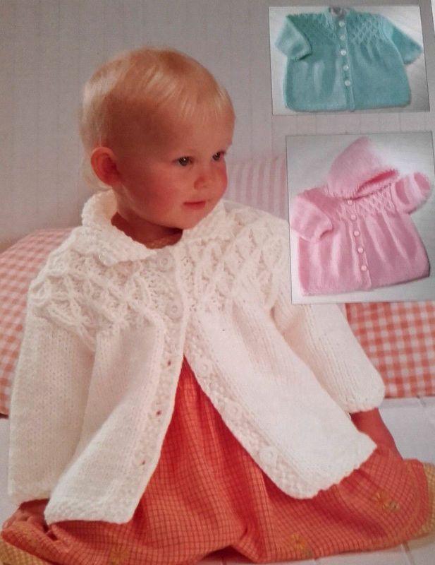 6a850d52d PDF Baby Child Chunky Smocked Coat Jacket Hood 18 - 28 Knitting ...