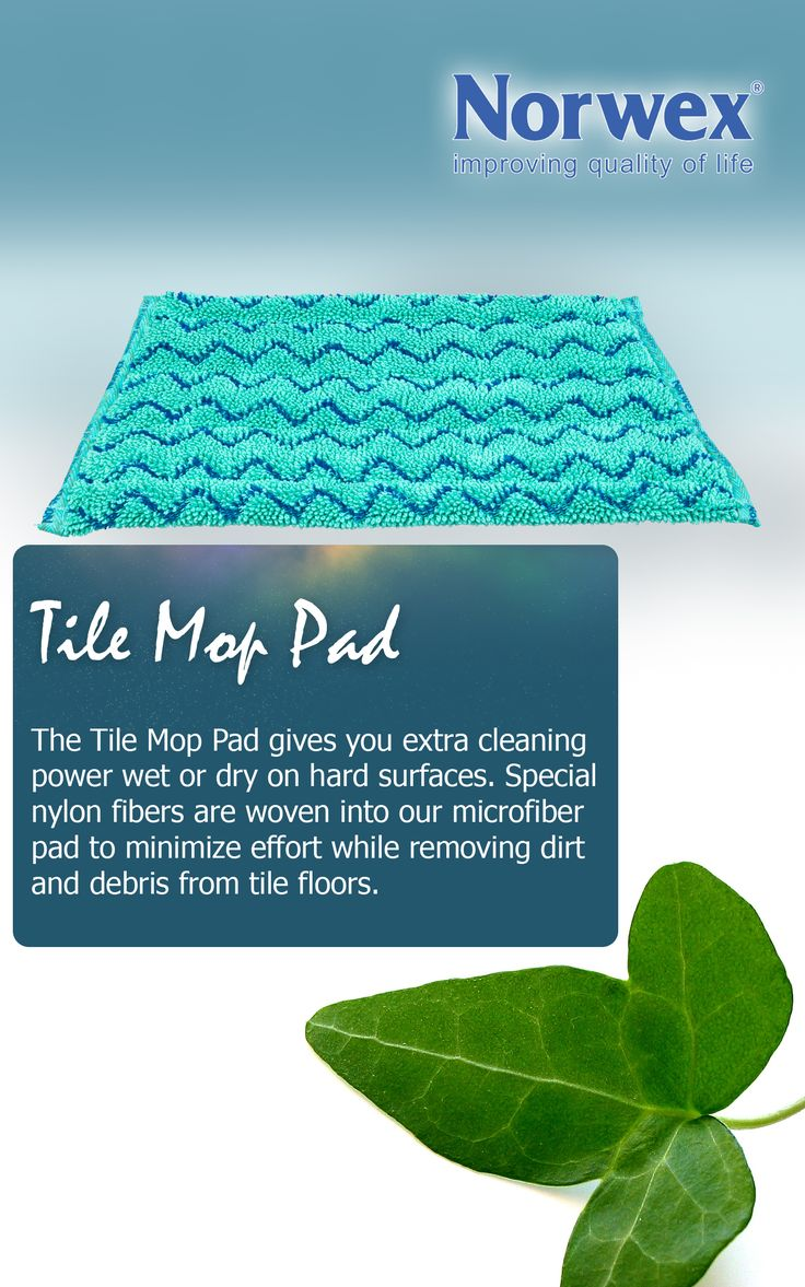"""Norwex #Tile Mop Pad (www.norwex.com) The Tile Mop pad works with the Norwex mop system and gives you extra cleaning power on hard surfaces. Special nylon fibers are woven into our microfiber pad to minimize effort while removing dirt and debris from tile floors.  Small and Large size available for Mini and Large Mop packages. Small: 14cm x 32cm / 5"""" x 12""""  Large: 14cm x 52cm / 5"""" x 20"""""""