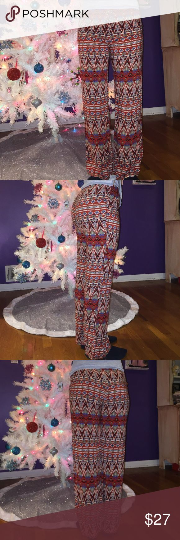 Tribal Printed pants Looser fitted pants with tribal print design, super light weight and comfortable. Pants Boot Cut & Flare