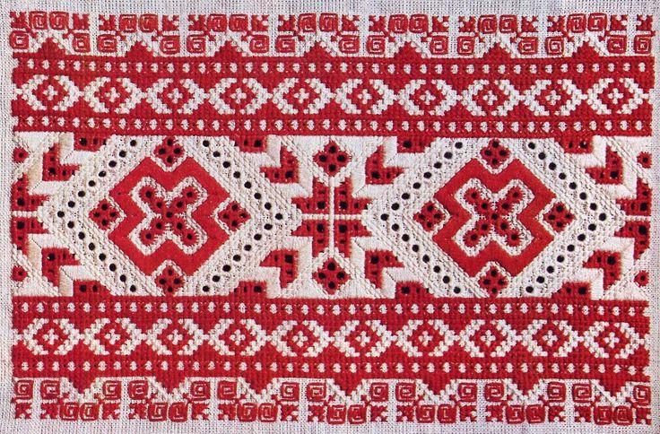 Embroidery from village Čičmany, Považie region, Western Slovakia.