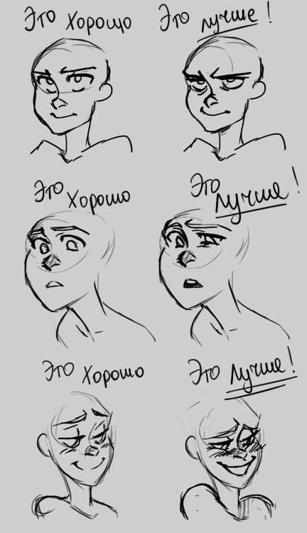 Урок: Выражения лица