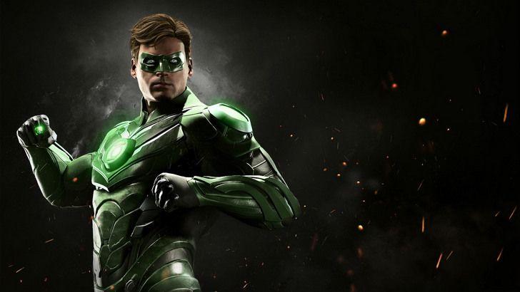 Green Lantern Injustice 2 Game Wallpaper