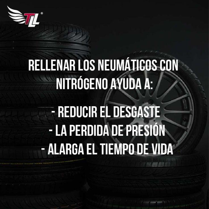 Rellenar los neumáticos con nitrógeno ayuda a reducir el desgaste de las llantas, la pérdida de presión y alarga el tiempo de vida #tiendadellantas #motos #carro #seguridad #prevención #diseño #innovación #tecnología #motor #rueda