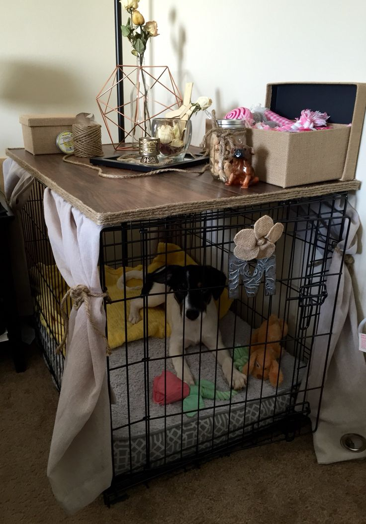 DIY Dog Crate Cover Thatu0027s A Table. No Sew, Super Easy! Buy A