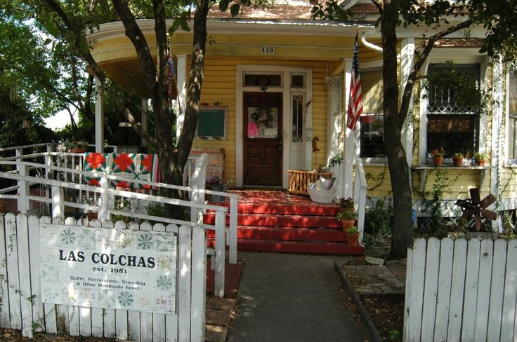 Las Colchas:  I love this quilt shop in San Antonio, Texas.  It's in a cute little old Sears Roebuck mail order house!