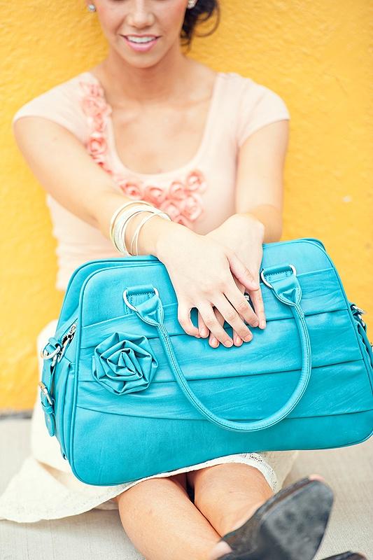 Jo Totes Camera Bag - Rose Bag in Teal $89.00