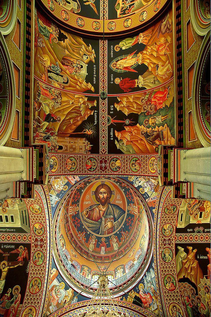 Agios Minas ceiling frescoes, Heraklio, Crete
