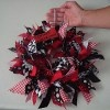 Cheerful Spirit Ribbon Wreath | FaveCrafts.com ~ use your own school colors :)