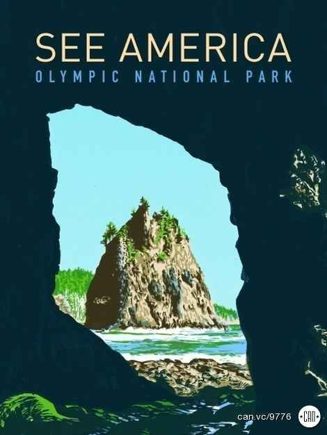 Olympic National Park | 17 Posters That Will Inspire You to See America