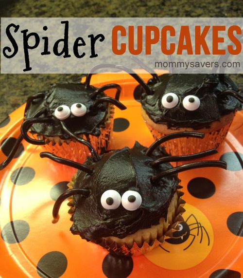 Halloween Treats:  Spider Cupcakes