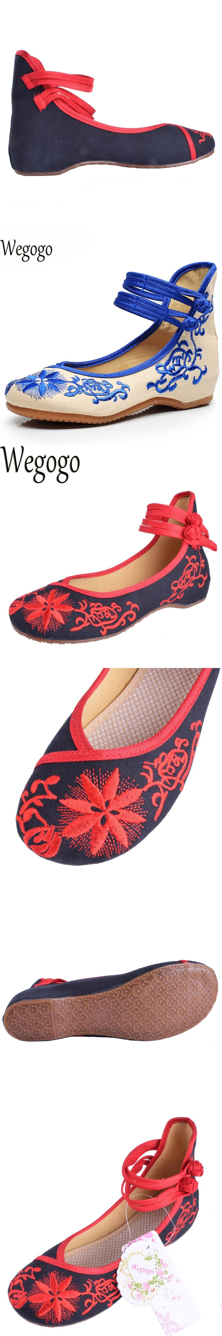 Fashion Women Shoes Old Beijing Mary Jane Flats Casual Shoes Chinese  Embroidered Cloth Woman Ballerina Shoes