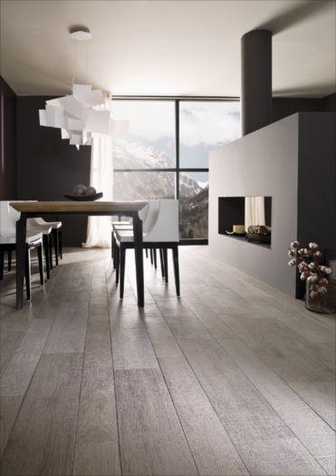 """Ceramic """"wood"""" tile flooring throughout"""