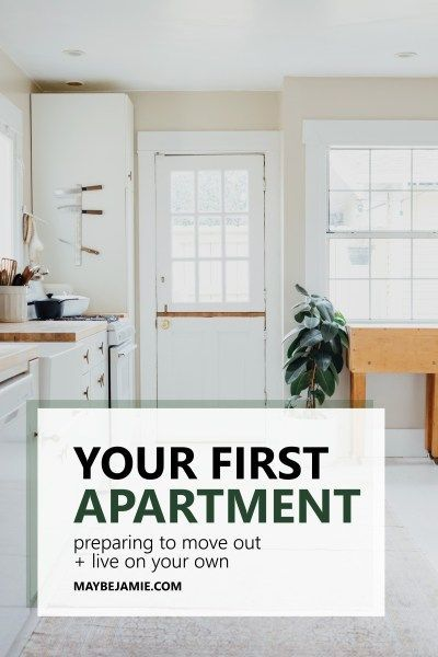 Moving out into your very first apartment can be a scary and intimidating step. Being prepared is number one, and these steps will help the whole process become a breeze.