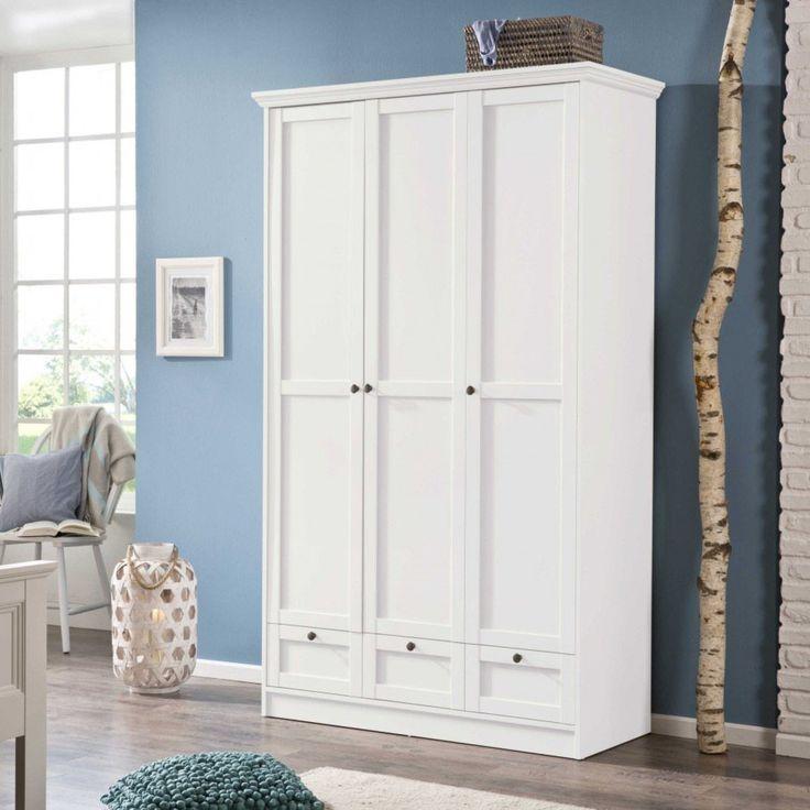 Kleiderschrank Landwood 120 x 200 cm • Weiß • Lack & Folie | daheim.de