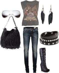 Outfit for a rock concert                                                       …