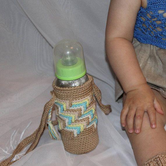 Newborn bottle cover Baby bottle cozy Kids bottle holder