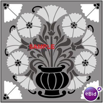 ART DECO VASE & FLOWERS CROSS STITCH CHART on eBid United Kingdom
