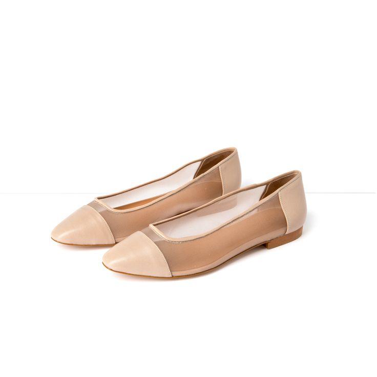 Flattered | Lynn - Beige Ballet Flats