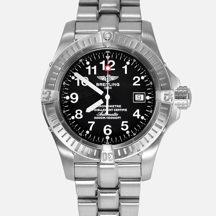 Breitling Seawolf Avenger Titanium Black Dial E17370