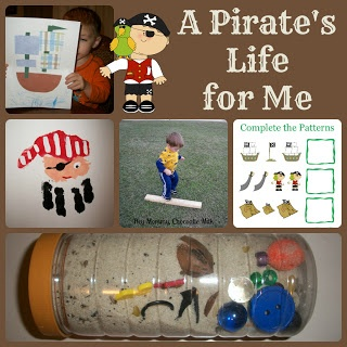Pirates Download with free Printables..for letter recognition, count pirates, smallest to largest,etc.. {cute}