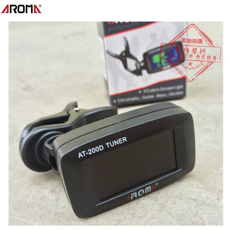 Aroma Mini Digital Lcd clip on Aroma Chromatic Guitar Bass Ukulele tuner afinador cromatico battery included