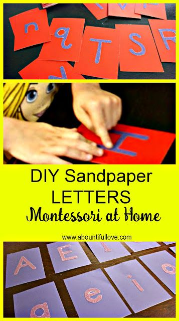 A Bountiful Love: DIY Inexpensive Sandpaper Letters